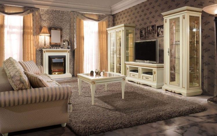 Набор мебели в классической гостиной