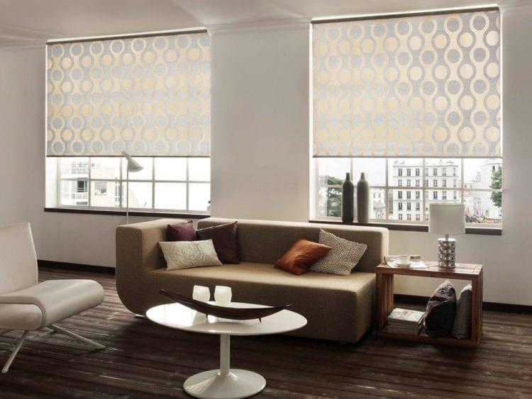 Рулонные шторы в современном интерьере