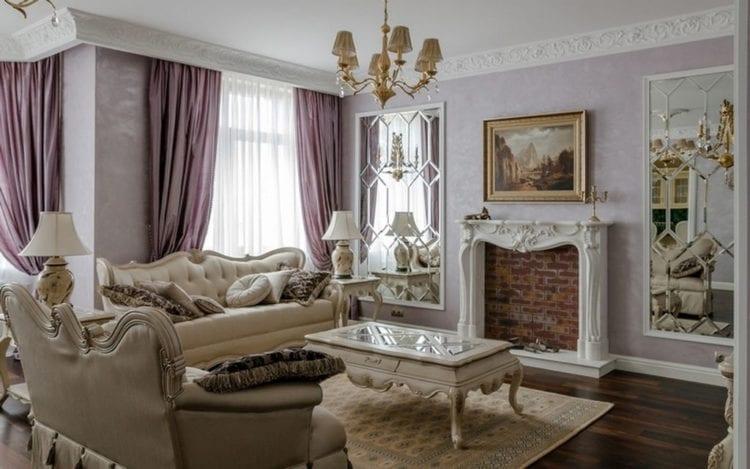 Шикарная гостиная в классическом стиле