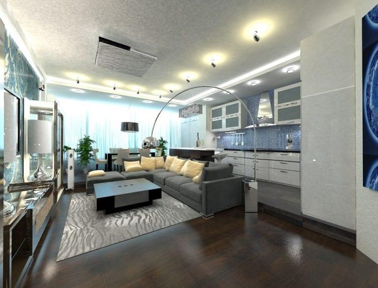 Кухня-гостиная 50 кв