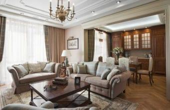 Кухня-гостиная в классическом стиле: актуальные решения с аристократическим привкусом