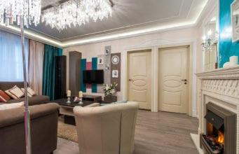 Дизайн проходной гостиной