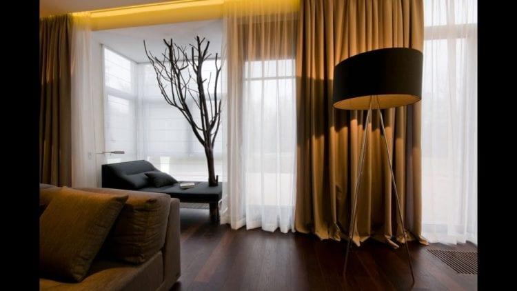 Стильные модные шторы в зал в современном стиле