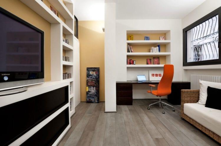 Гостиная совмещенная с кабинетом