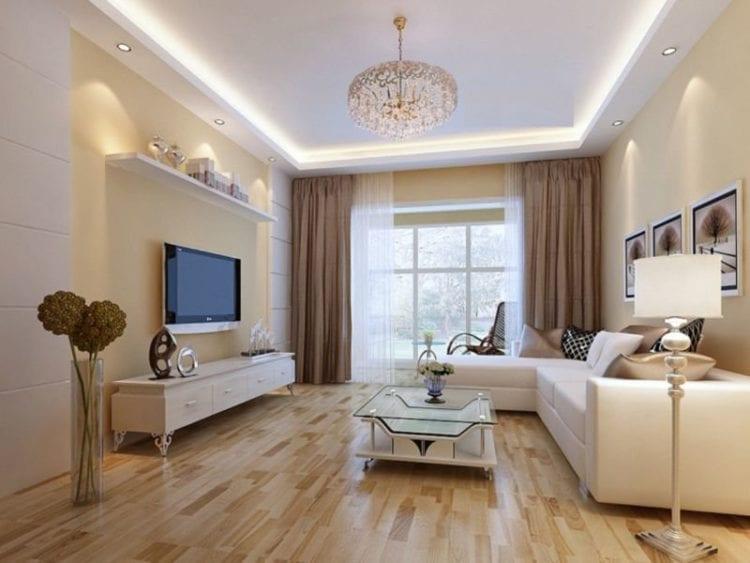 Интерьер гостиной в светлых тонах