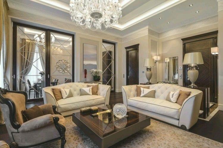 Гостиная в классическом стиле на современный лад