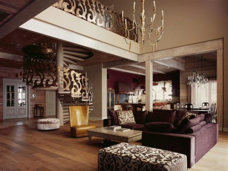 Интерьер гостиной в стиле Фьюжн