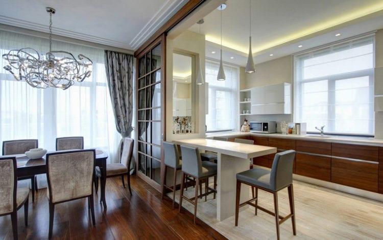 Интерьер кухня столовая