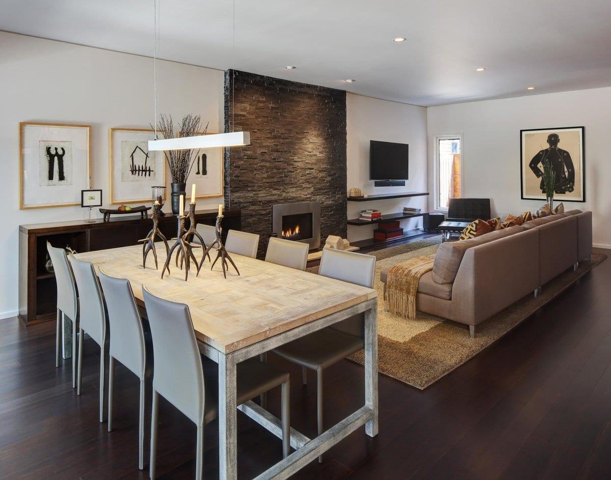 Гостиная-столовая: особенности оформления в частном доме и квартире