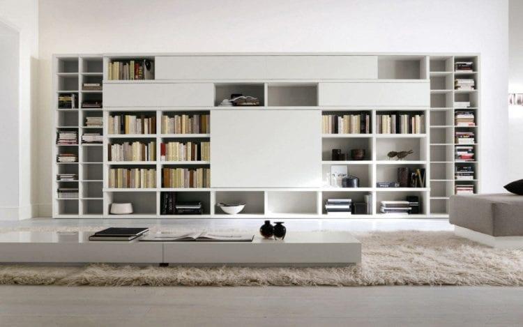 Стеллажи для гостиной в современном стиле