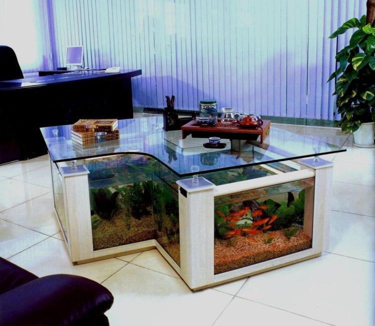 Журнальный столик аквариум фото