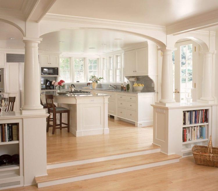 Дизайн кухни и гостиной с перегородкой