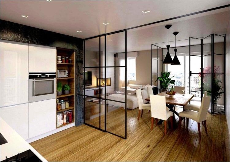 Перегородки в интерьере кухни и гостиной