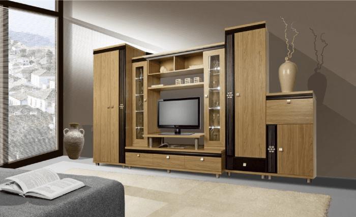 Стенки в гостиную с глубокими большими шкафами