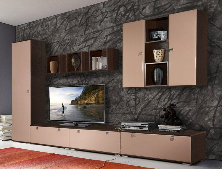 Модульные стенки со шкафом в гостиную