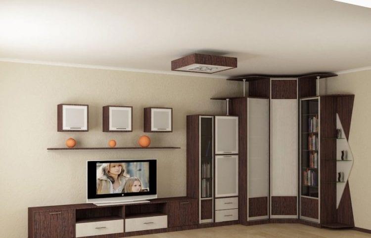 Стенка в гостиную со шкафом для одежды и белья: советы по выбору