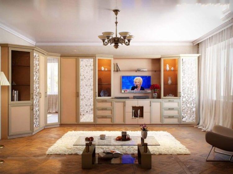 Шкаф в гостиную в составе стенки