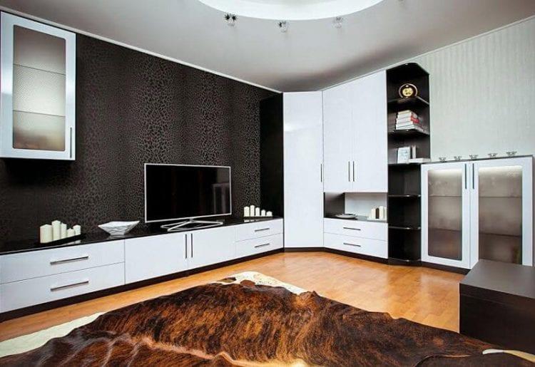 Угловой шкаф со стенкой в гостиную