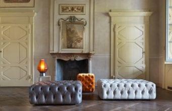 Пуфы и банкетки для гостиной – функциональная составляющая декоративной композиции