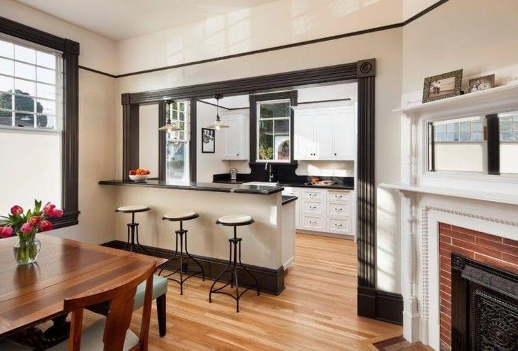 Кухня-столовая дизайн интерьер