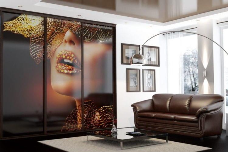 Шкафы-купе с фотопечатью на стекле