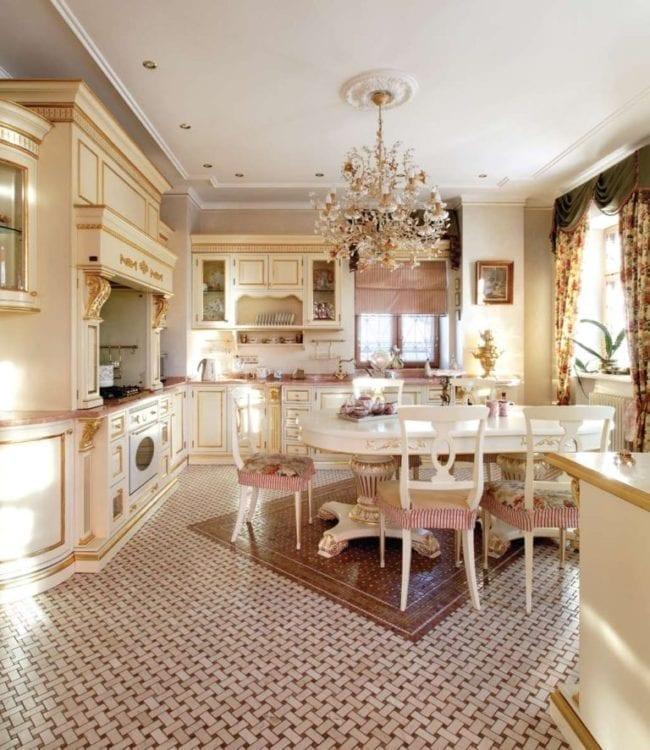 Кухня-столовая в английском стиле