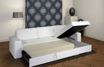 Прямые диваны в гостиную со спальным местом