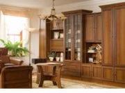 Стенка в гостиную в классическом стиле: классика в дизайне