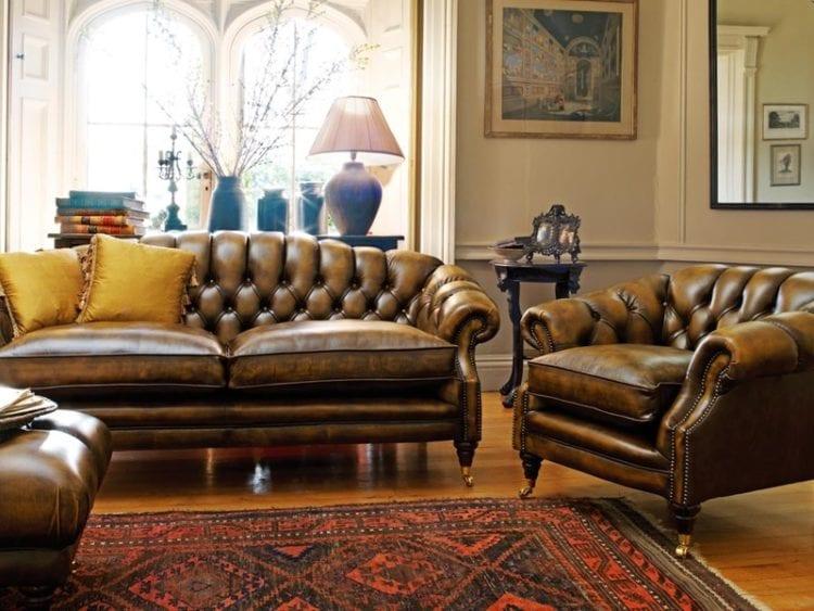 Мягкая мебель Честерфилд в интерьере