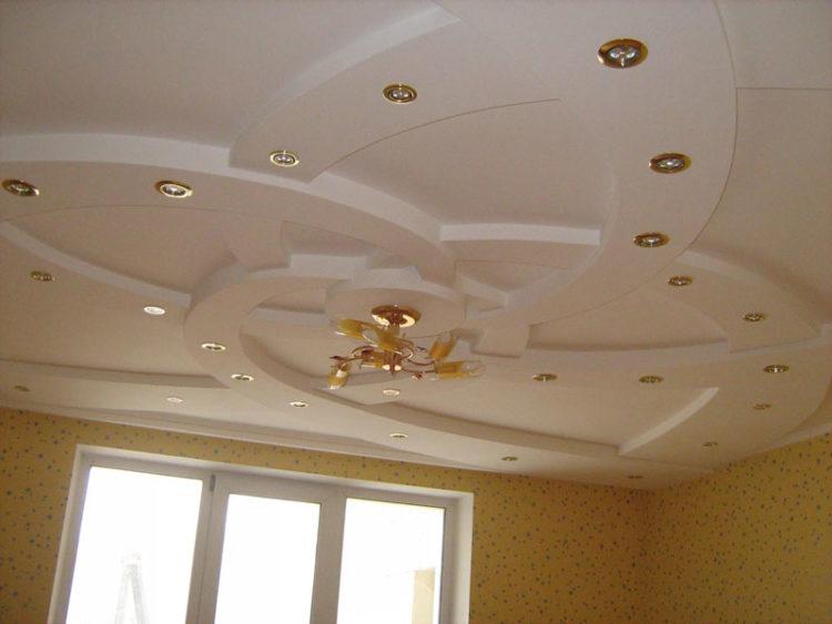 Подвесные потолки гипсокартон в зале