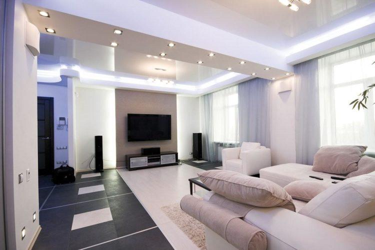 Потолок гипсокартон двухуровневый фото