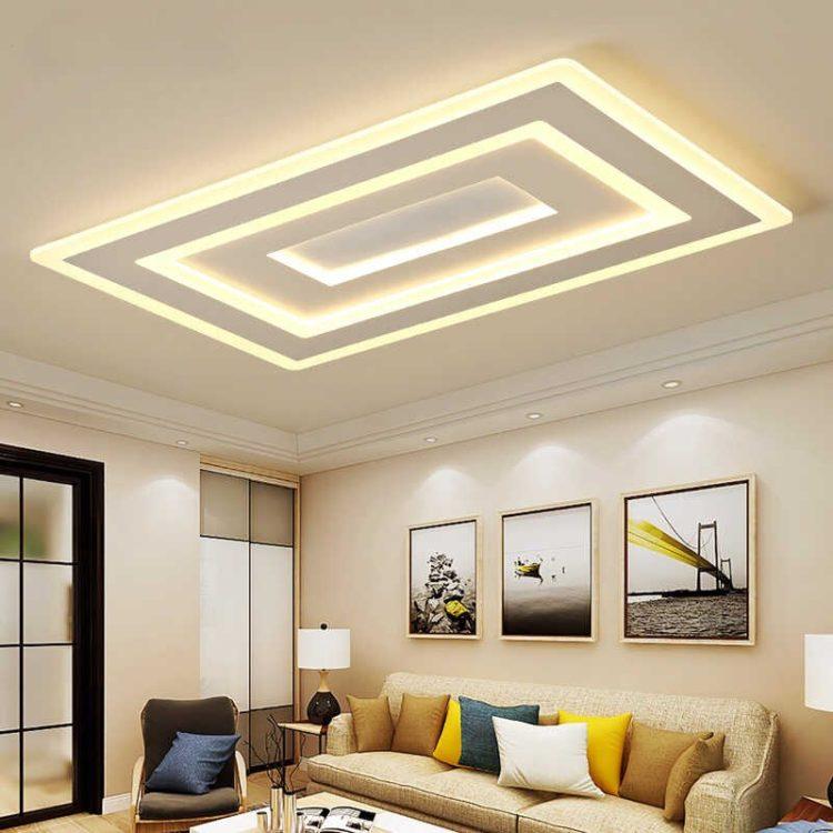 Светодиодный потолок в гостиной