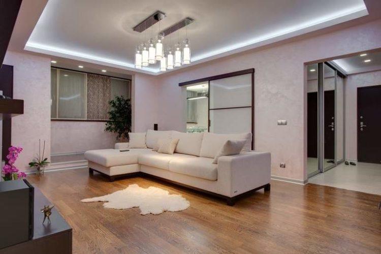 Дизайн потолка из гипсокартона в зале