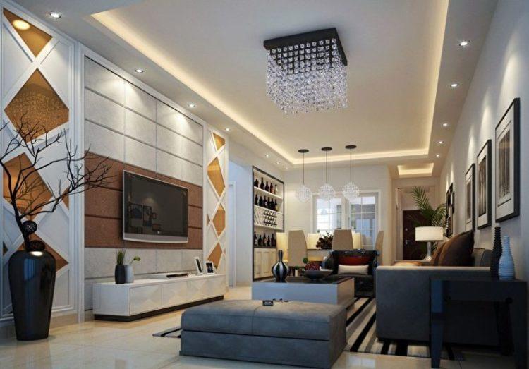 Потолки из гипсокартона фото для гостиной