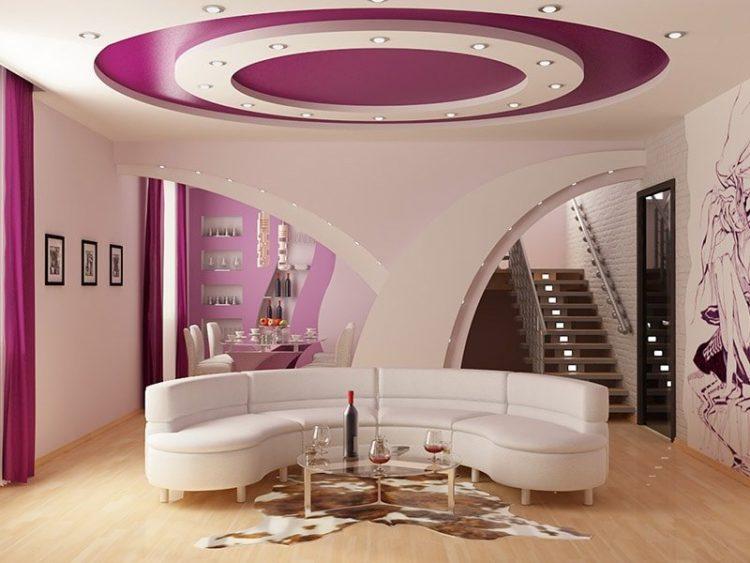 Красивые потолки для зала