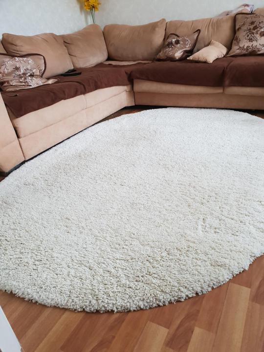 Овальные ковры в залс длинным ворсом