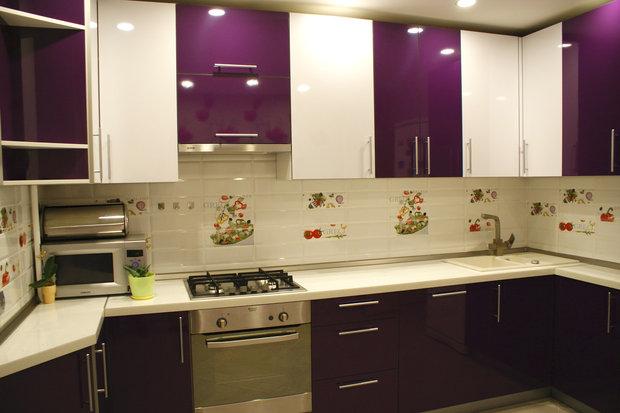 Баклажановый кухонный гарнитур