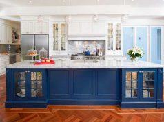 Голубой кухонный гарнитур