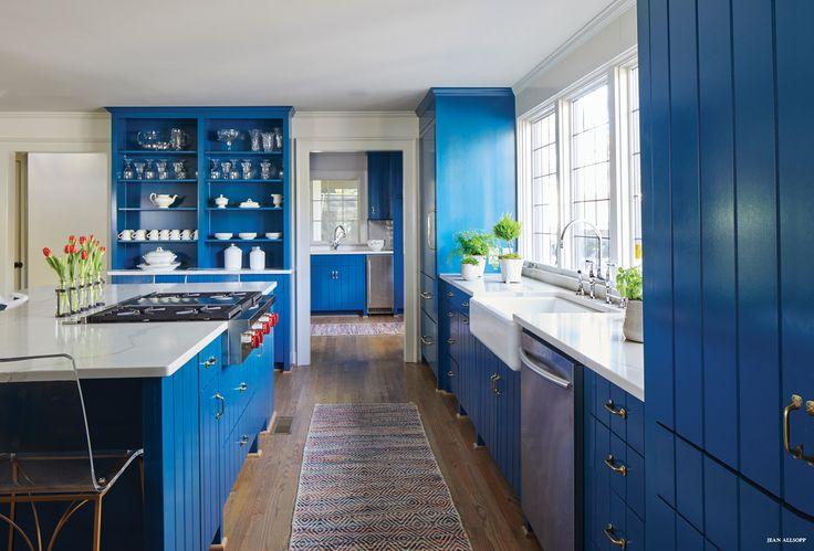 Сине голубая кухня