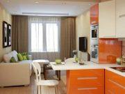 Дизайн кухни-гостиной площадью 10, 11 или 12 квадратных метров