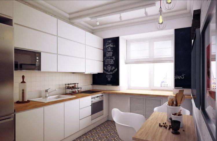 Кухня и гостиная в едином пространстве на 10 кв. м.
