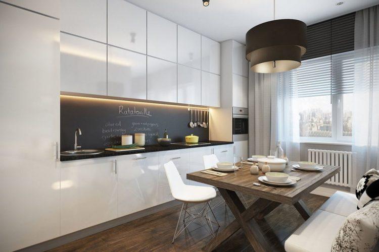 Дизайн рабочей зоны в стиле минимализм в части совмещенного пространства