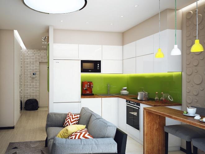 Кухня гостиная на 11 кв метров с диваном