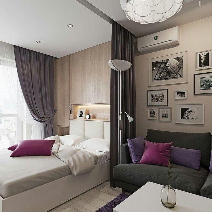 Трансформируемая кровать в зале площадью 16 кв. м