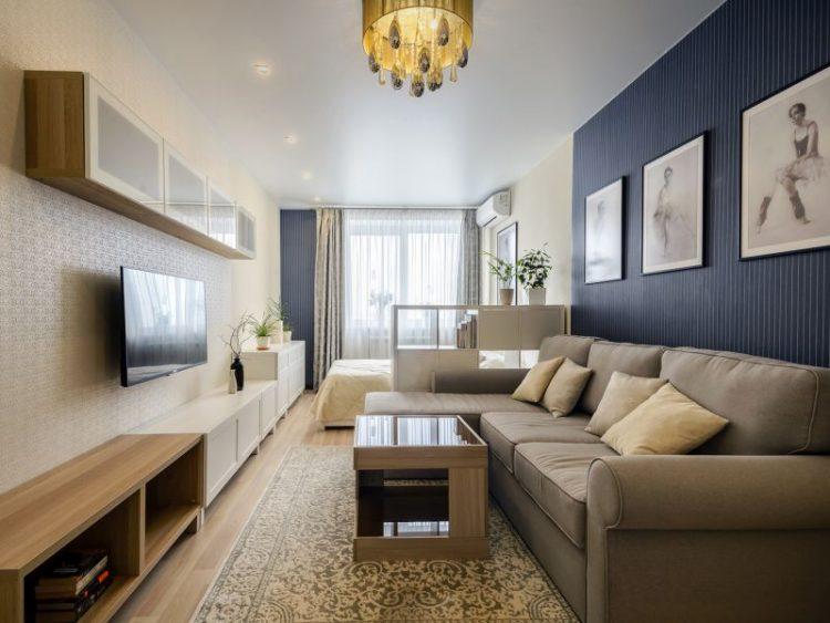 Дизайн зала площадью 16 кв. м, используемого в качестве спальни