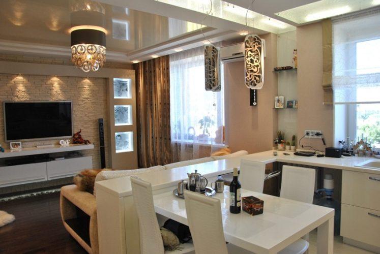 Кухня с гостиной 16 кв м
