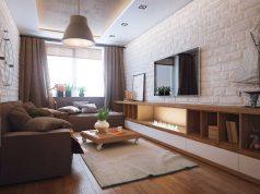 Дизайн интерьера зала площадью 16 квадратных метров