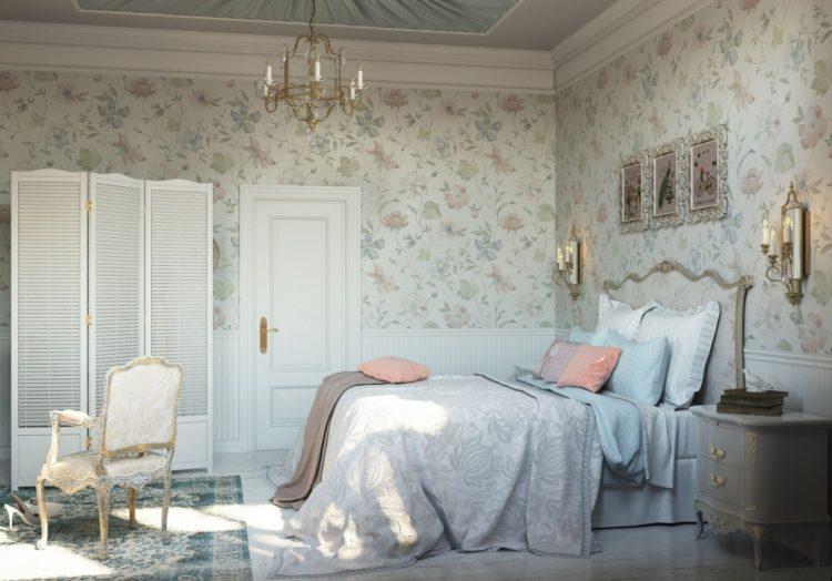 Молдинги в интерьере спальни